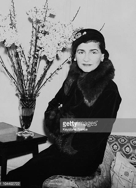 February 25 1932 portrait of the fashion designer Gabrielle CHANEL called Coco CHANEL during a trip to London