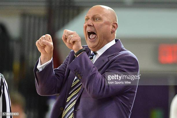 East Carolina Pirates head coach Jeff Lebo during the game between the Connecticut Huskies and the East Carolina Pirates at Williams Arena Minges...