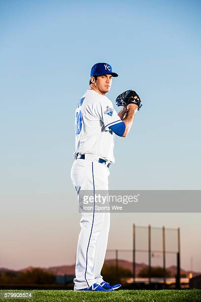 Pitcher Brian Flynn poses for a portrait during the Kansas City Royals photo day in Surprise Ariz