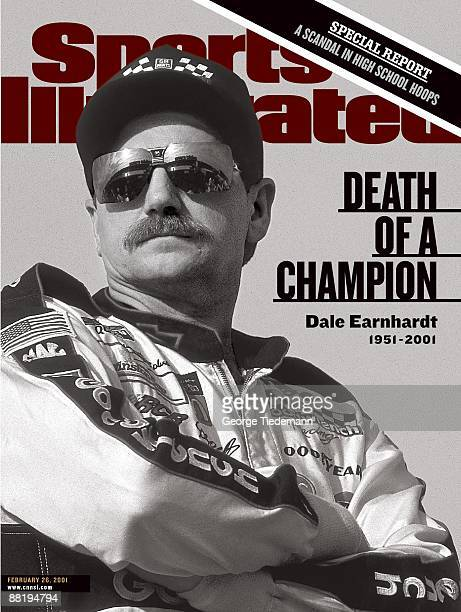 February 26 2001 Sports Illustrated Cover Auto Racing NASCAR Hooters 500 Closeup of Dale Earnhardt before race at Atlanta Motor Speedway Death of a...