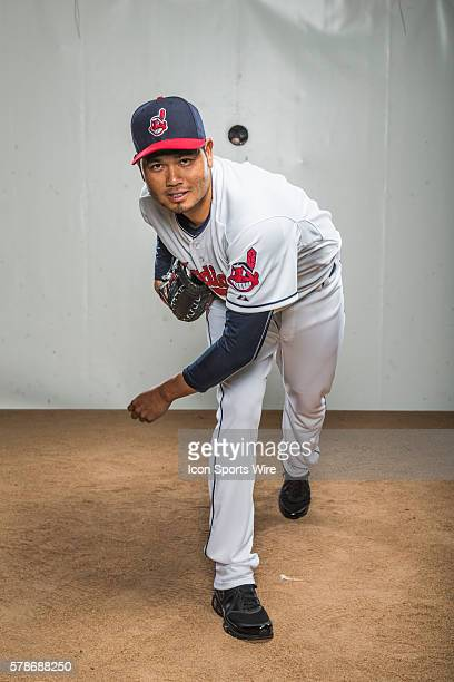 Pitcher Bruce Chen poses for a portrait during the Cleveland Indians photo day in Goodyear AZ