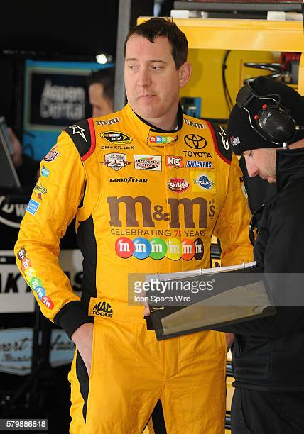 Kyle Busch Joe Gibbs Racing MM's 75th Anniversary Toyota Camry during practice for the Sprint Cup Series Folds of Honor Quiktrip 500 at Atlanta Motor...
