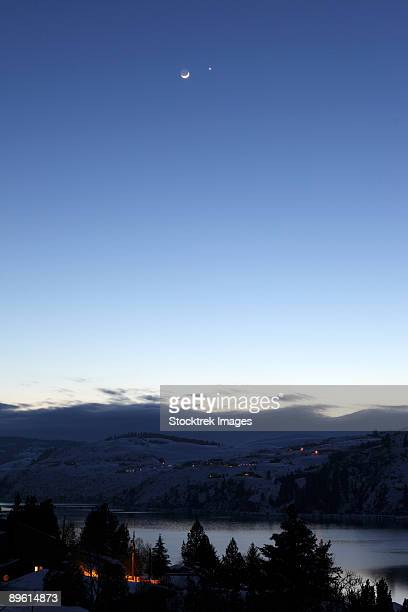 February 27, 2009 - Moon and Venus Conjunction, British Columbia, Canada.