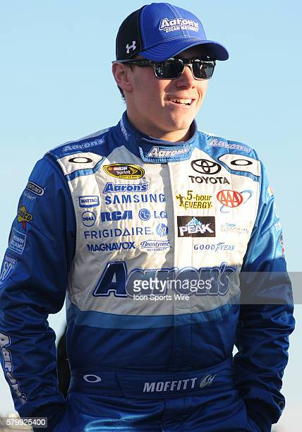 Brett Moffitt Michael Waltrip Racing Aaron's 60th Anniversary Dream Machine Toyota Camry during qualifying for the Sprint Cup Series Folds of Honor...