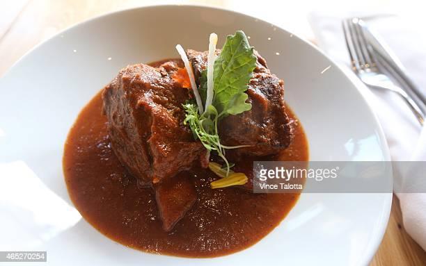 TORONTO ON FEBRUARY 27 February 27 2015 Picture of garam masala braised beef short ribs at Pukka restaurant