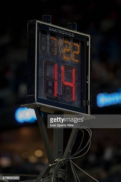 February 27 2015 Shoot clock during the game between the New Orleans Pelicans and the Miami Heat at Smoothie King Center in New Orleans LA New...