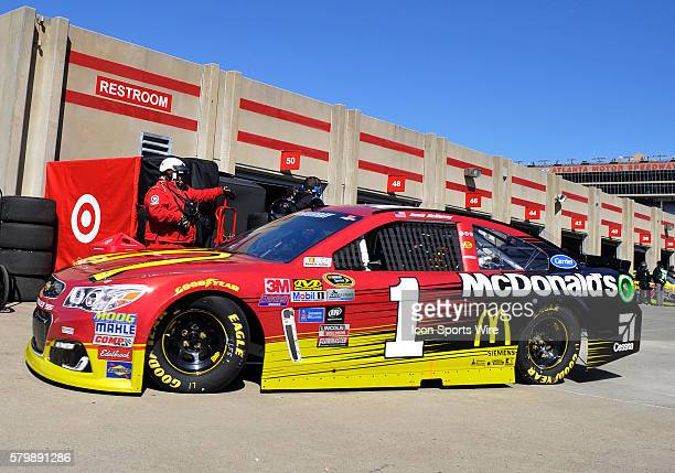Jamie McMurray Ganassi Racing McDonald's Chevrolet SS during practice for the Sprint Cup Series Folds of Honor Quiktrip 500 at Atlanta Motor Speedway...
