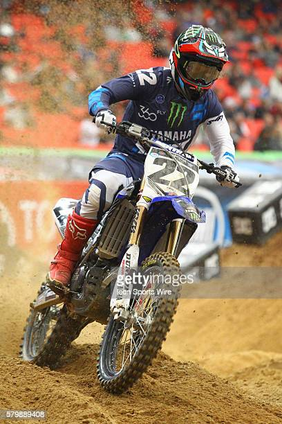 Monster Energy/360fly/Chaparral/Yamaha Factory Racing Chad Reed in the sand during timed practice at round 8 of the AMA Monster Energy Supercross...