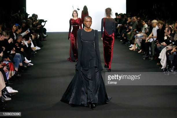 February 27: A model walks the runway during the Ann Demeulemeester show as part of the Paris Fashion Week Womenswear Fall/Winter 2020/2021 on...