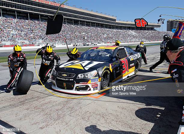 Ryan Newman pits during the Folds of Honor Quiktrip 500 NASCAR Sprint Cup series race at the Atlanta Motor Speedway in Hampton GA
