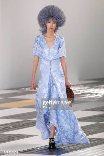 February 28: A model walks the runway during the Loewe show as part of the Paris Fashion Week Womenswear Fall/Winter 2020/2021 on February 28, 2020...