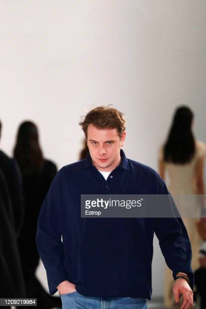 Fashion designer Jonathan Anderson during the Loewe show as part of the Paris Fashion Week Womenswear Fall/Winter 2020/2021 on February 28 2020 in...