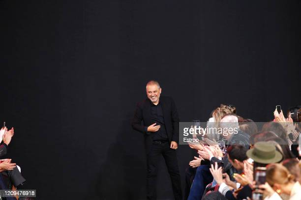Fashion designer Elie Saab during the Elie Saab show as part of the Paris Fashion Week Womenswear Fall/Winter 2020/2021 on February 29 2020 in Paris...