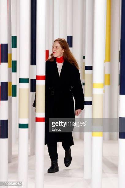 February 29: Fashion designer Nadège Vanhee-Cybulski during the Hermes as part of the Paris Fashion Week Womenswear Fall/Winter 2020/2021 on February...