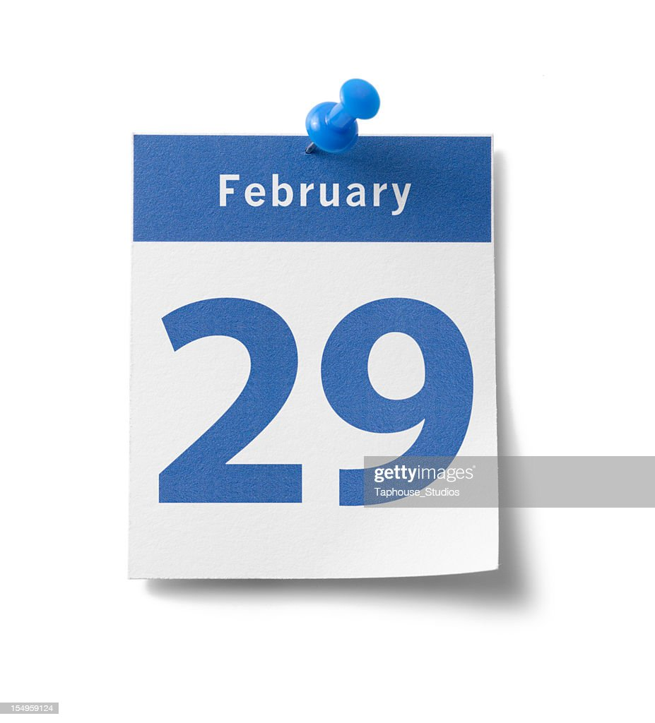 February 29th Calendar : Stock Photo