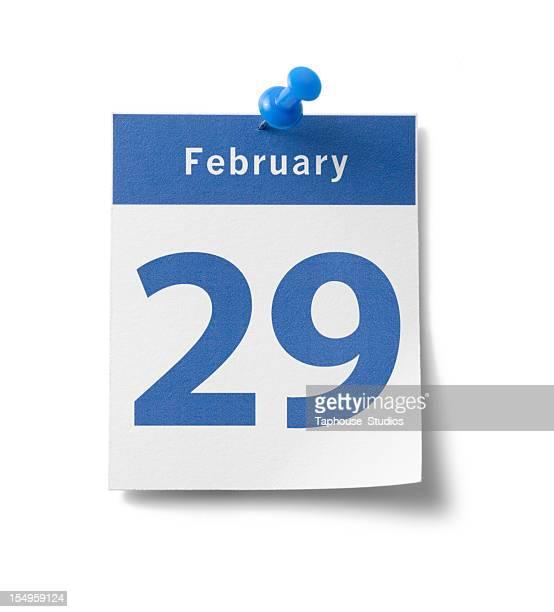 febbraio 29 calendario - anno bisestile foto e immagini stock