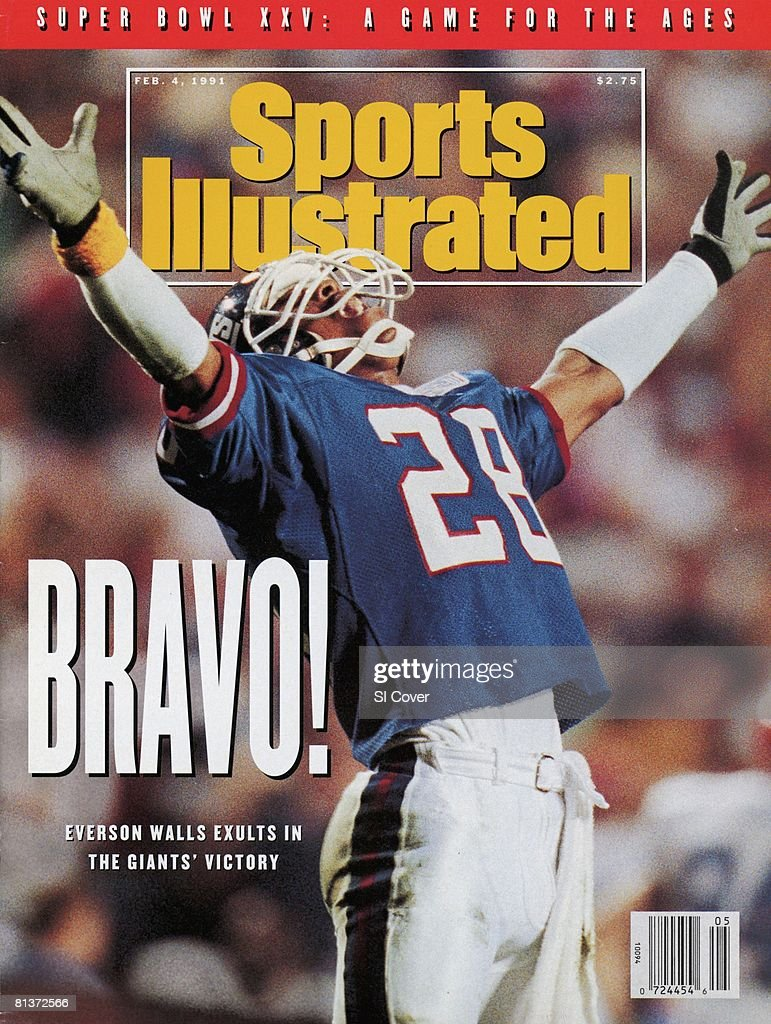 New York Giants Everson Walls, Super Bowl XXV : News Photo