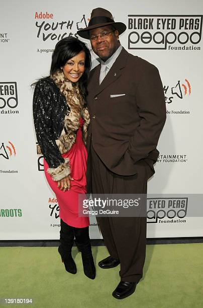 February 5 2009 Los Angeles Ca Jimmy Jam and wife Lisa Padilla 5th Annual Black Eyed Peas Peapod Foundation Benefit Concert held at the Conga Room at...