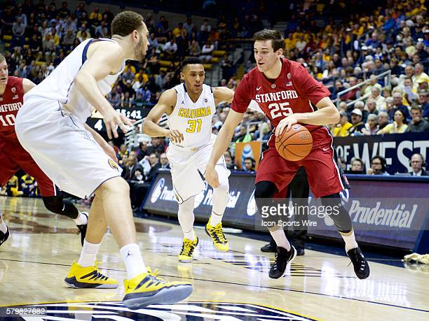 Stanford Cardinal forward Rosco Allen carries the ball during the NCAA basketball game between the California Golden Bears and the Stanford Cardinal...