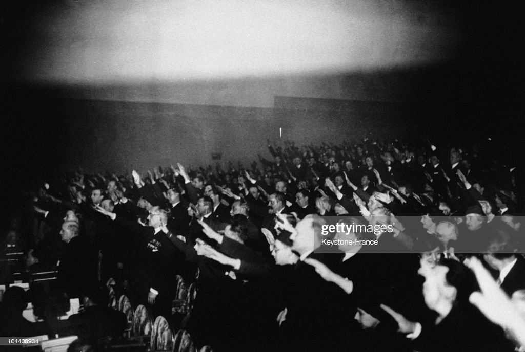 Meeting Of The Patriotic Youths In 1935 : Photo d'actualité
