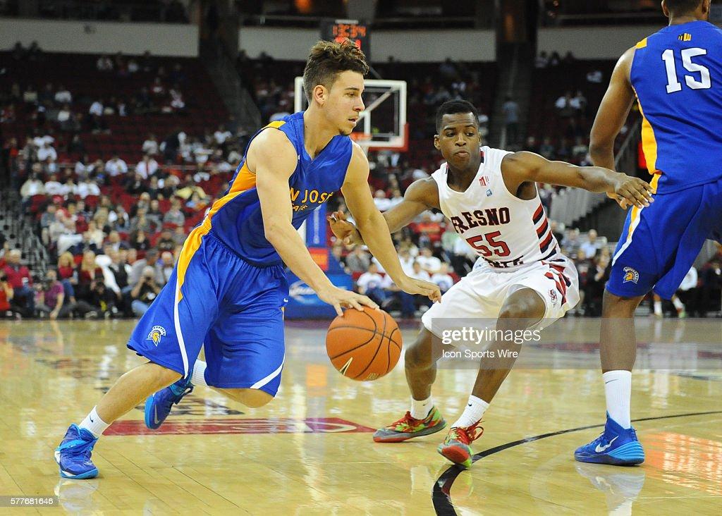 NCAA BASKETBALL: FEB 08 San Jose State at Fresno State : News Photo