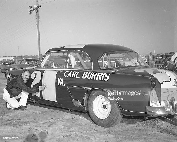 Carl Burris of Leaksville NC ran his 1954 Ford Sportsman in the ModifiedSportsman race at Daytona International Speedway as car No 20 after having to...