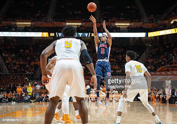 Auburn Tigers guard Bryce Brown takes a 3 point shot during a game between the Auburn Tigers and Tennessee Volunteers at ThompsonBoling Arena in...