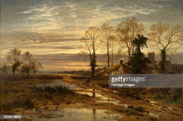February Fill Dyke, 1881. Artist Benjamin Williams Leader. .
