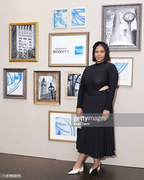 February James joins Swizz Beatz and the Marriott Bonvoy™ American Express® Credit Card portfolio Celebrate Women in Art on November 14 2019 in New...