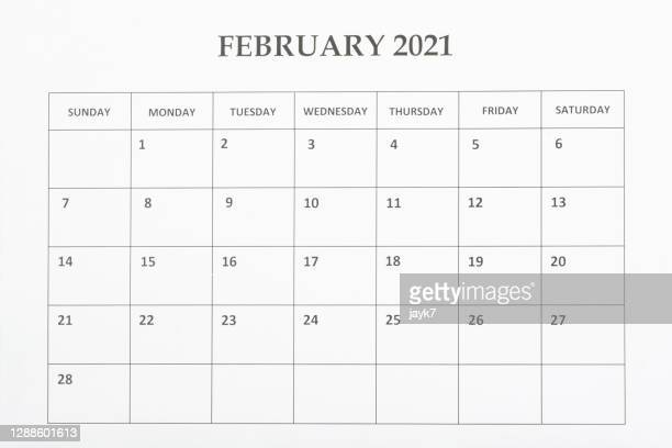 february month calendar - february stock pictures, royalty-free photos & images