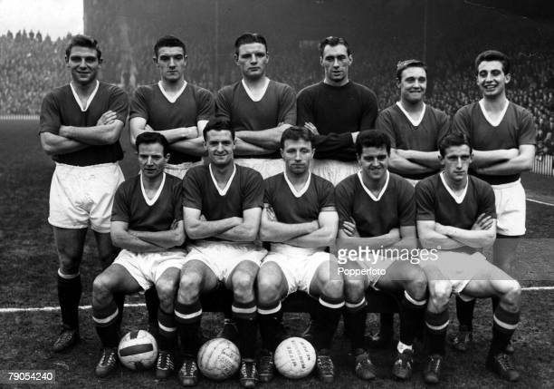 February Munich Aircrash 6th FEBRUARY 1958 Members of the Manchester United 'Busby Babes' who were involved in the aircrash at Rheim airport Duncan...