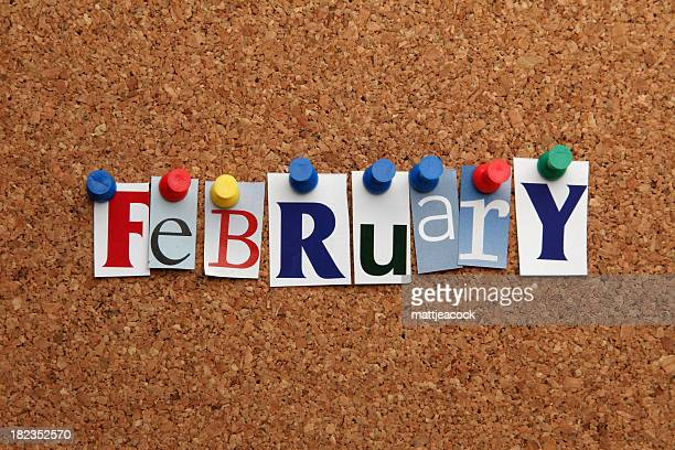 February pinned on noticeboard