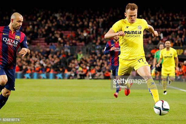 Cheryshev in the match between FC Barcelona and Villarreal for the 1/2 final of the spanish Cup played at the Camp Nou february 11 2015 Photo Joan...