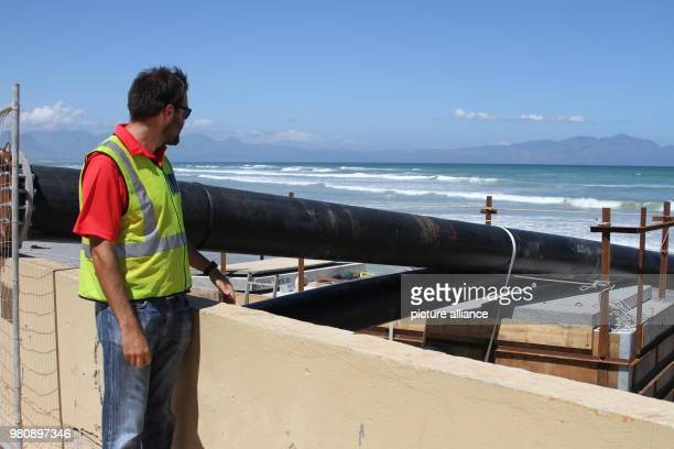Ben Peters a hydraulic engineer of the city supervising the construction of a seawater desalination plant in Strandfonteinm a suburb of Cape Town...