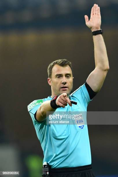 19 Febuary 2018 Germany Frankfurt/Main soccer Bundesliga Eintracht Frankfurt vs RB Leipzig 23 play day in the Commerzbank Arena Referee Felix Zwayer...
