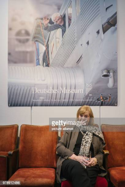 Febuary 2018, Germany, Hanover: The widow Gundula Fuchsberger takes a break after visiting the exhibition on her deceased husband, Joachim...