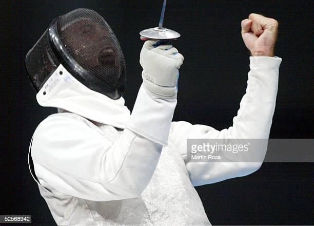 Fechten Olympische Spiele Athen 2004 Athen Florett / Mannschaft / Maenner CHN ITA Finale Simone VANNI / ITA / Gold 210804