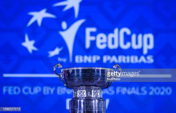 Fed Cup trophy during the draw ceremony on Tuesday 11 February 2020 at the Museum of Fine Arts in Budapest