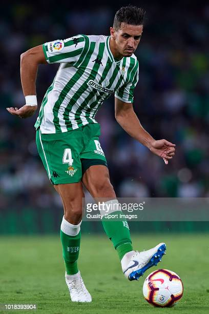 Feddal of Real Betis in action during the La Liga match between Real Betis Balompie and Levante UD at Estadio Benito Villamarin on August 17 2018 in...