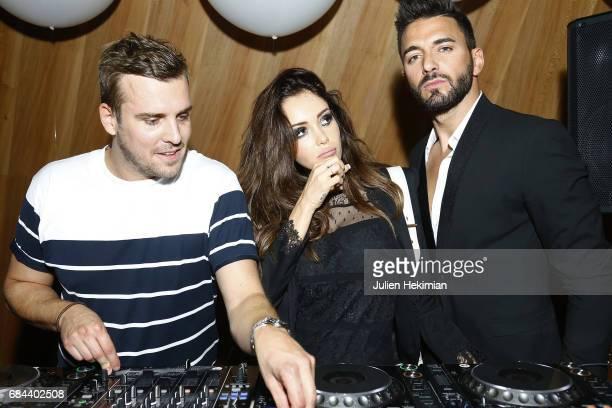 DJ Fedder Nabilla Benattia and her boyfriend Thomas Vergara attend the Renaissance Hotels 'Discover the Lights' Event at Eiffel Tower on May 17 2017...