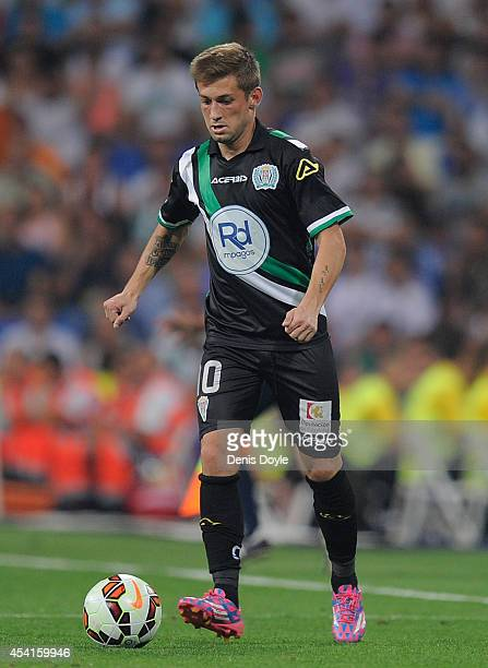 Fede Cartabia of Crodoba CF in action during the La liga match between Real Madrid CF and Cordoba CF at Estadio Santiago Bernabeu on August 25 2014...
