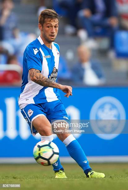 Fede Cartabria of Deportivo de La Coruna in action during the Pre Season Friendly match between Deportivo de La Corua and West Bromwich Albion at...