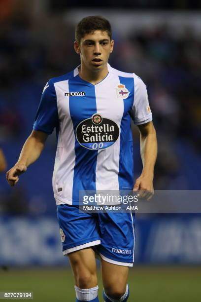 Fede Valverde of Deportivo de La Coruna during the PreSeason Friendly between Deportivo de La Coruna and West Bromwich Albion on August 5 2017 in La...