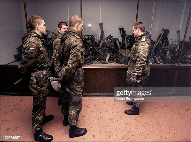 Federal Armed Forces soldiers of the Armored Brigade 39 within the memorial sites of Auschwitz I and Auschwitz II/Birkenau Our picture shows Federal...