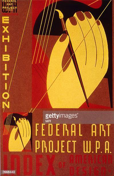Federal Art Project WPA poster advertising an exhibition.