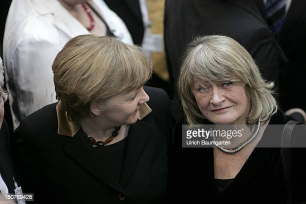GERMANY BERLIN Federal Assembly in the Reichstag building Angela MERKEL Chancellor and Alice SCHWARZER