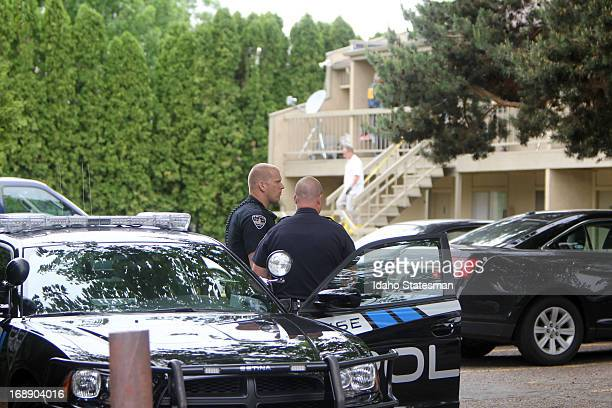 Federal authorities search an apartment in Boise Idaho Thursday May 16 2013 Fazliddin Kurbanov was arrested today as part of a federal terrorism...