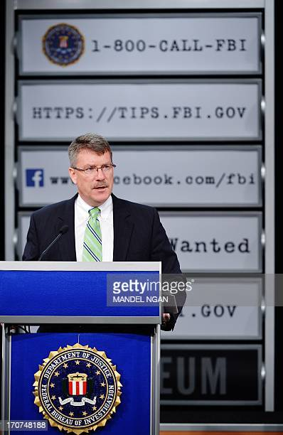 Federal Bureau of Investigation Criminial Investigative Division Assistant Director Ronald Hosko speaks during a press conference to announce the...