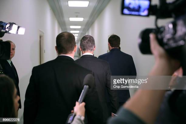 Federal Bureau of Investigation Deputy Director Andrew McCabe arrives for a meeting with members of the Oversight and Government Reform and Judiciary...