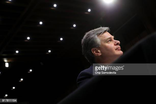 Federal Bureau of Investigation Director Christopher Wray joins fellow intelligence community officials to testify before the Senate Intelligence...